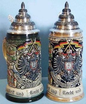 King Deutschland Motto Beer Stein