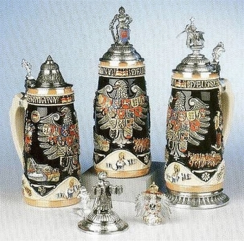 King Deutschland Legacy Relief Beer Stein