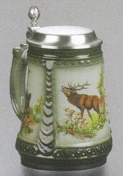 Zoeller & Born 3-Panel Hunter Beer Stein