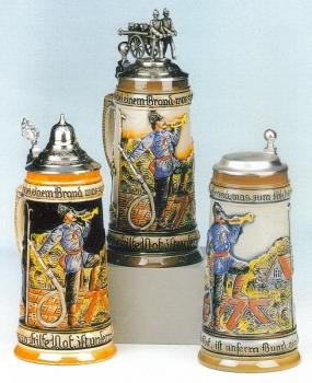 King Old German Fireman Beer Stein