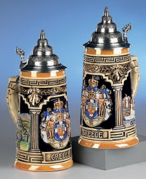 King Greece Beer Stein