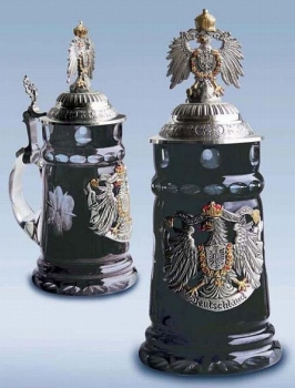 Zoeller & Born Black Crystal Glass Beer Stein