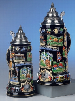 King Black Deutschland Beer Stein