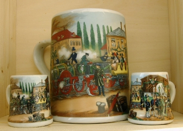 Dr. Merkle Railway Beer Stein Set