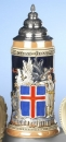 King Iceland-Coat of Arms Beer Stein