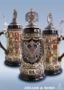 Zoeller & Born Pewter Eagle Beer Stein