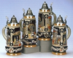 King Austria 3-Towns Beer Stein