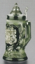 Zoeller & Born Black Bavaria Beer Stein