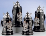 King Black Coat of Arms Beer Stein