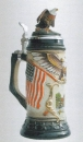 Zoeller & Born USA-Deutschland Flag Beer Stein