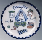 Schilz Salt Glazed Personalized Birthday Plate