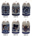 Girmscheid Grey-Blue Beer Stein Set