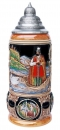 King 2001 Handpainted Beer Stein