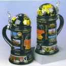 King Globe Lid Beer Stein